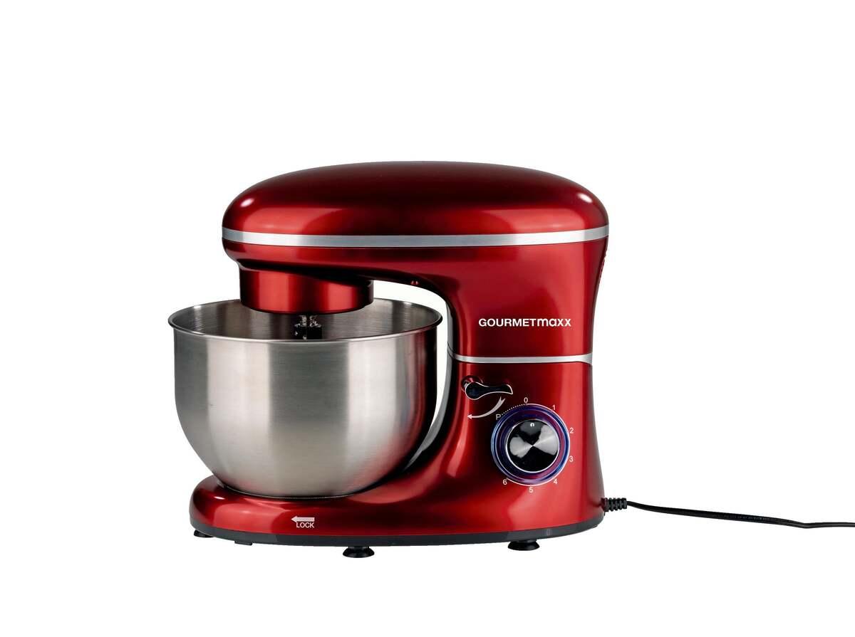 Bild 2 von GOURMETmaxx Küchenmaschine 1500 W rot