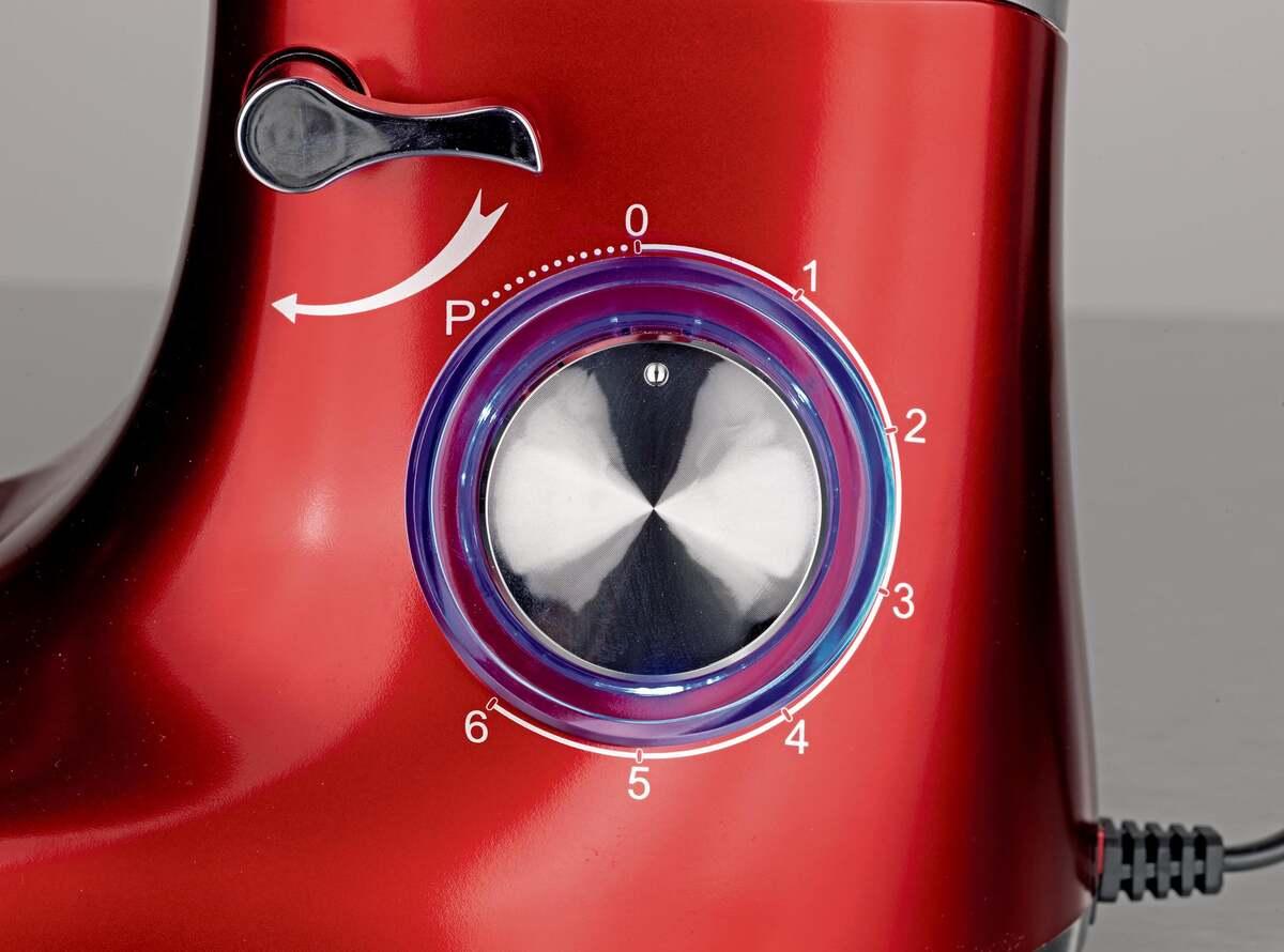 Bild 8 von GOURMETmaxx Küchenmaschine 1500 W rot