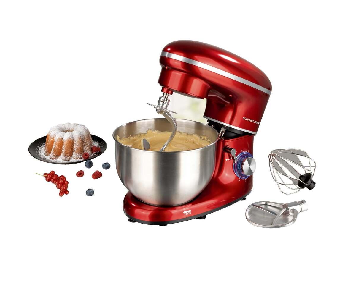 Bild 10 von GOURMETmaxx Küchenmaschine 1500 W rot