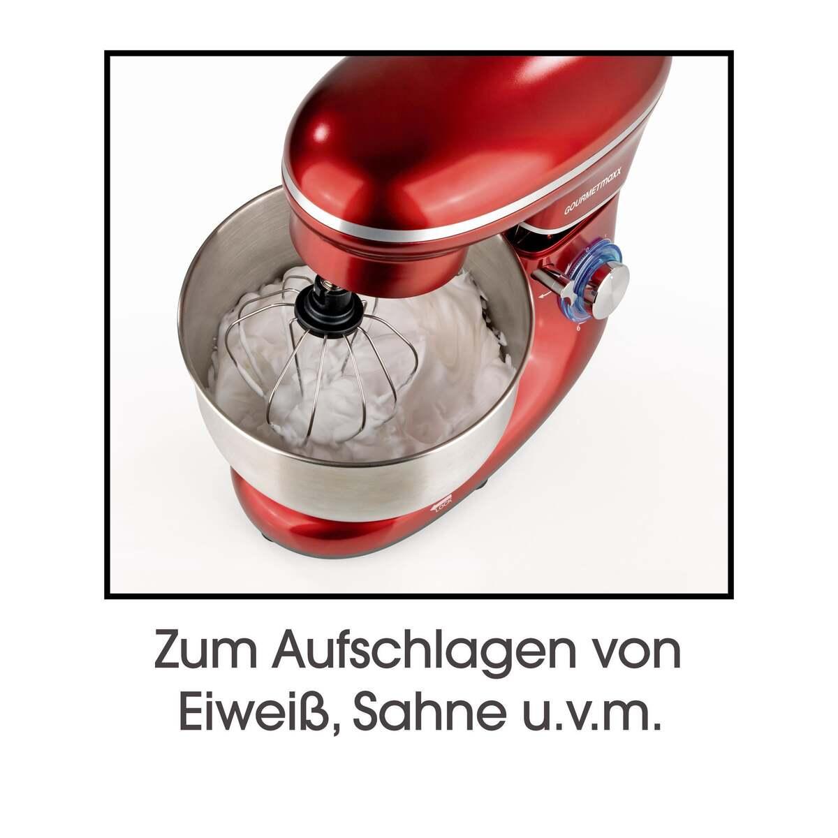 Bild 11 von GOURMETmaxx Küchenmaschine 1500 W rot