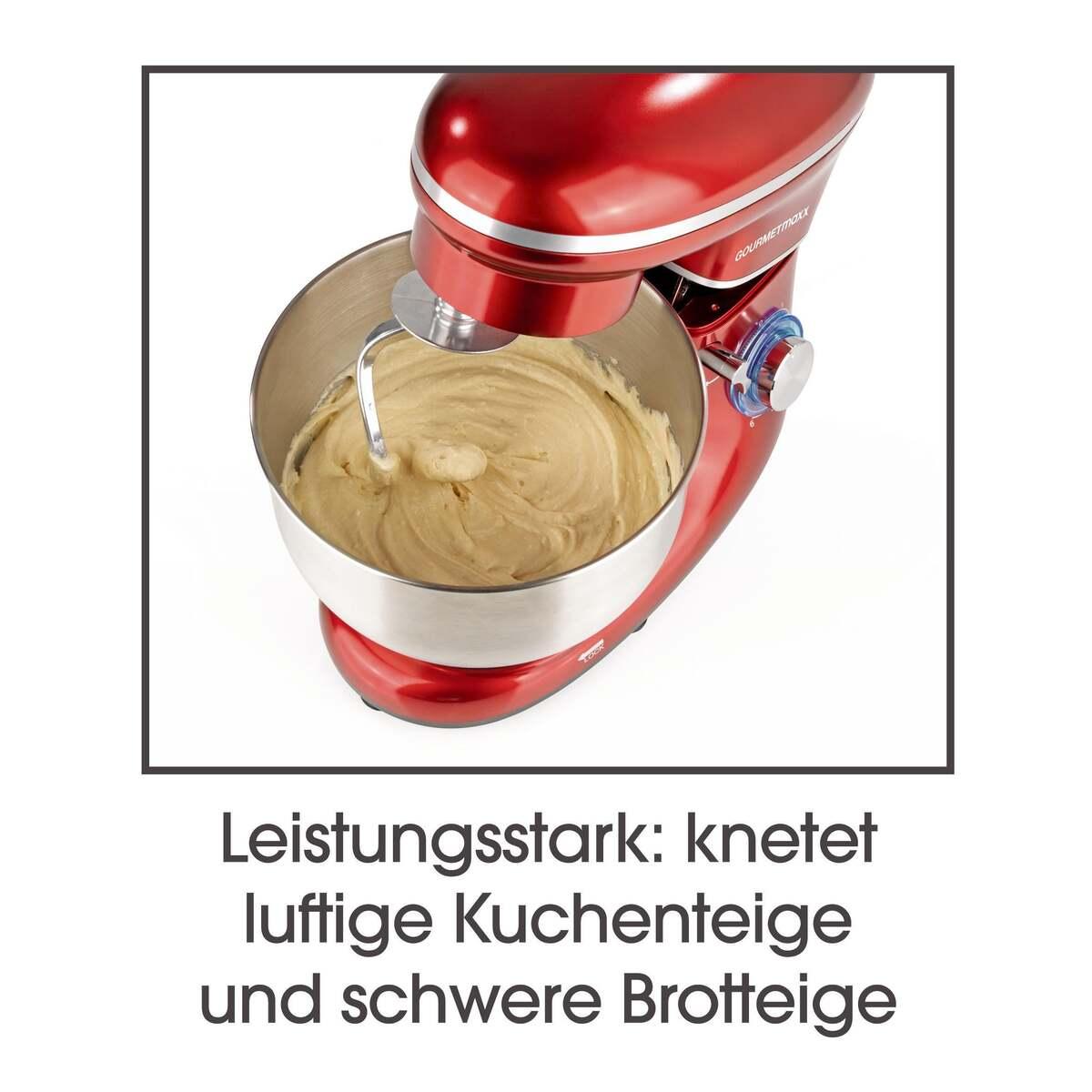 Bild 12 von GOURMETmaxx Küchenmaschine 1500 W rot