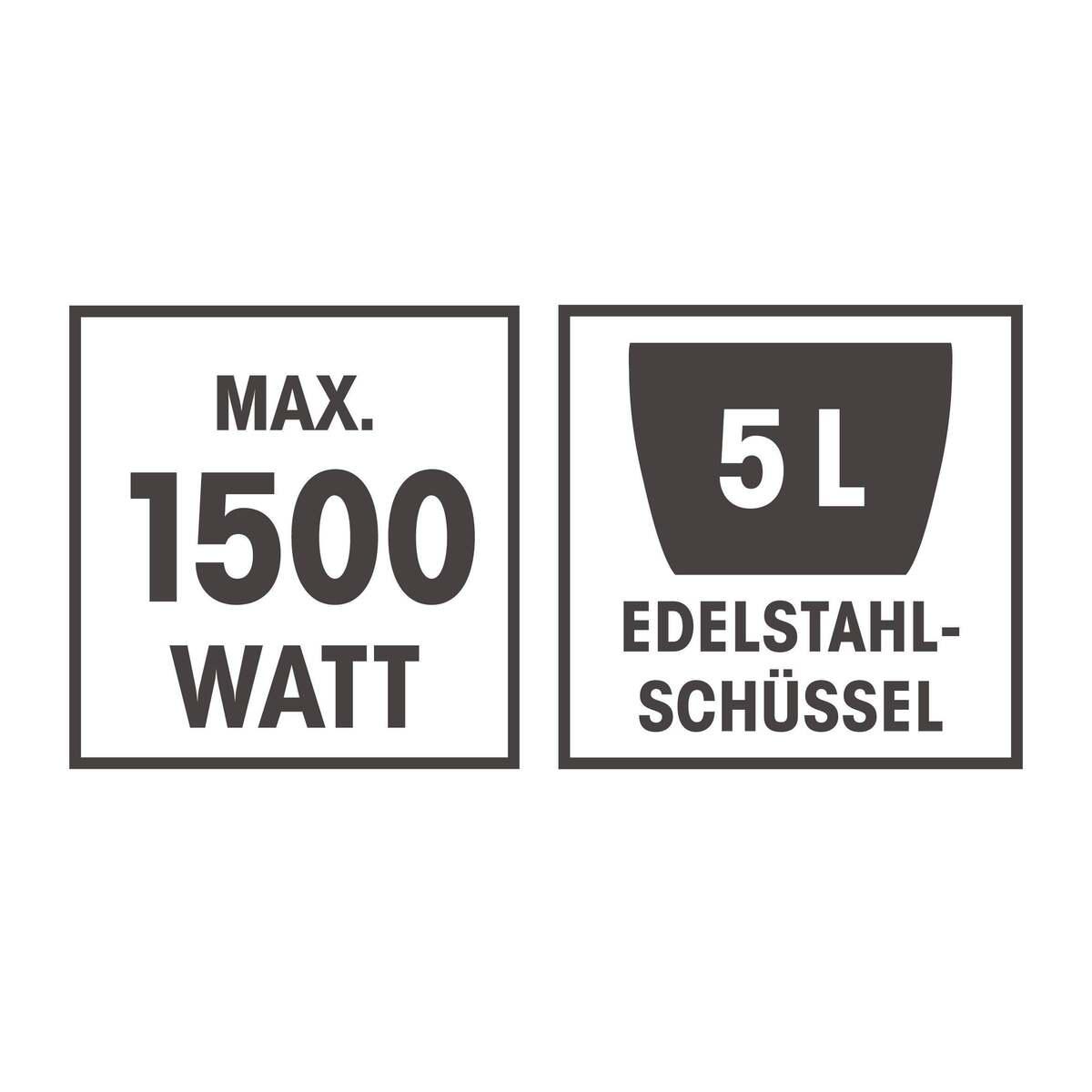 Bild 15 von GOURMETmaxx Küchenmaschine 1500 W rot