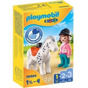 Playmobil® 70404 - Reiterin mit Pferd - Playmobil® 1-2-3