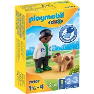 Playmobil® 70407 - Tierarzt mit Hund - Playmobil® 1-2-3
