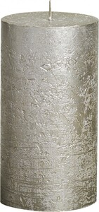 "Bolsius Rustik Stumpenkerze Metallic ""champagner, Höhe: 13 cm, Ø 6,8 cm"""