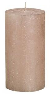 """Bolsius Rustik Stumpenkerze Metallic """"pastell-pink, Höhe: 13 cm, Ø 6,8 cm"""""""