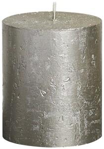"Bolsius Rustik Stumpenkerze Metallic ""champagner, Höhe: 8 cm, Ø 6,8 cm"""