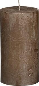 "Bolsius Rustik Stumpenkerze Metallic ""braunes kupfer, Höhe 13 cm, Ø 6,8 cm"""