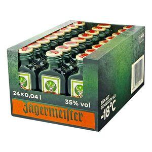 Jägermeister Kräuterlikör 35 % Vol. 40 ml, 24er Pack