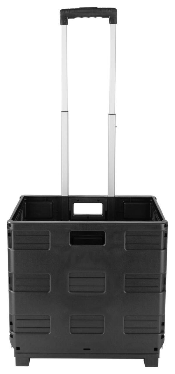 Klappbox-Trolley Easymaxx in Schwarz
