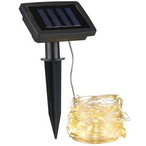 LED Solar Lichterkette aus Draht, 20 m