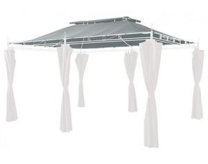 Grasekamp Ersatzdach Garten-Pavillon Inca 3x4m Grau