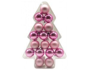 Weihnachtskugeln 17tlg. rosa