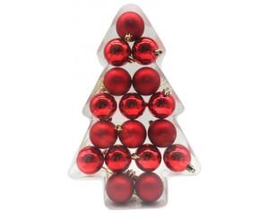 Weihnachtskugeln 17tlg. rot