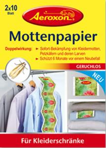 Aeroxon Motten-Papier 2x10Blatt