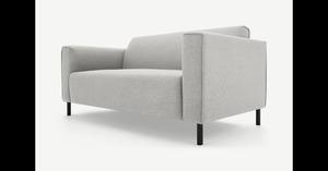 MADE Essentials Herron 2-Sitzer Sofa, Hagelgrau - MADE.com