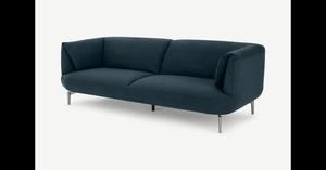 Inka 3-Sitzer Sofa, Aegaeisblau - MADE.com