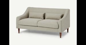 Herton 2-Sitzer Sofa, Gerstengelb - MADE.com