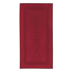 Zoeppritz Strandtuch 91/183 cm , Calvin Klein Terry Sculp , Rot , Textil , 91x183 cm , angenehm weich, hochwertige Qualität , 005299003601