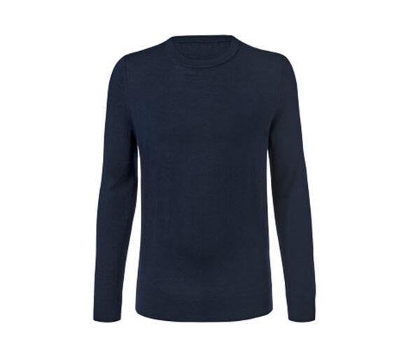 Merino-Pullover, dunkelblau