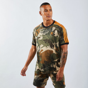 adidas All Over Print Camo 3 Stripe - Herren T-Shirts