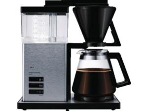 MELITTA 100702 Aroma Signature DeLuxe Filterkaffeemaschine  mit Glaskanne in Schwarz/Edelstahl