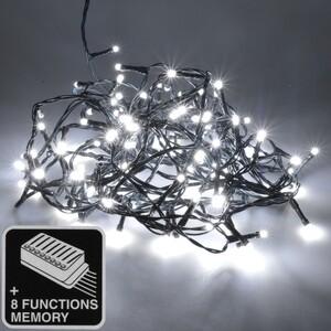 LED Lichterkette 12-18m/120-180LED kaltweiß 8 Funktionen innen/außen