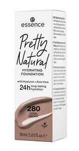 essence Pretty Natural hydrating foundation 280 Cool Ebony