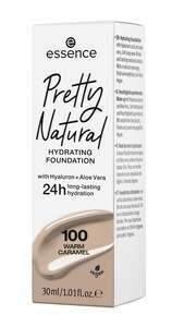 essence Pretty Natural hydrating foundation 100 Warm Caramel