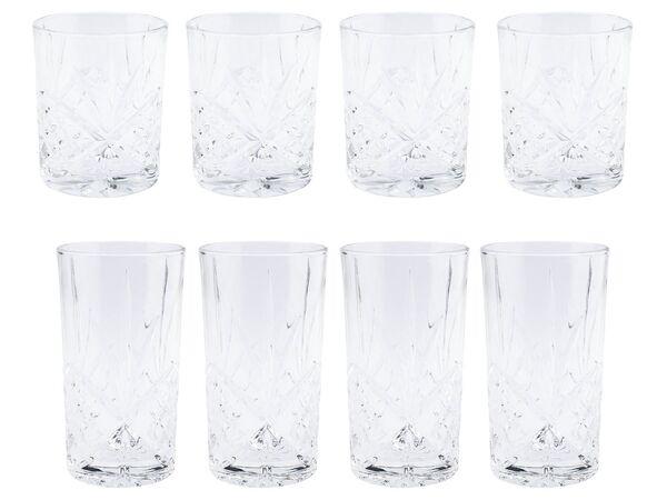 ERNESTO® Longdrink-Glas/ Gin-Whiskey-Wasser Glas, 4er