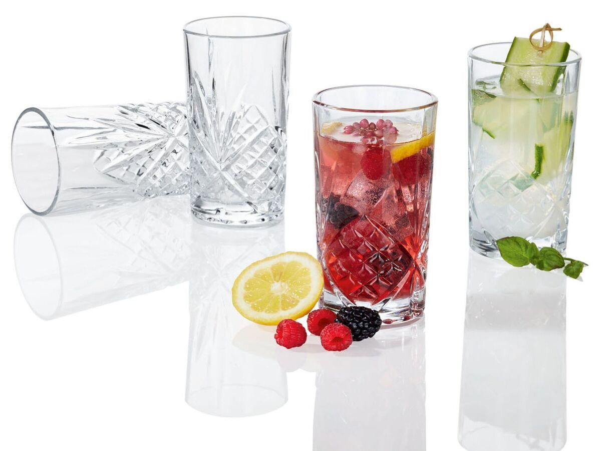 Bild 4 von ERNESTO® Longdrink-Glas/ Gin-Whiskey-Wasser Glas, 4er