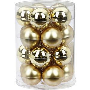 XXXLutz Christbaumkugel-set 20-teilig goldfarben , 140214 , Glas , Weihnachten , 6 cm Schubladen , glänzend, matt , 003754116701