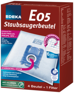 EDEKA Staubsaugerbeutel E05 4 Stück