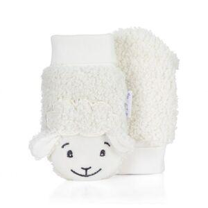 Babyfäustel - Handschuhe - Eisbär - ecru - Gr. 000