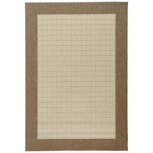Boxxx Flachwebeteppich 80/150 cm braun, naturfarben , Namur 870 , Textil , Bordüre , 80x150 cm , in verschiedenen Größen erhältlich , 003120005454