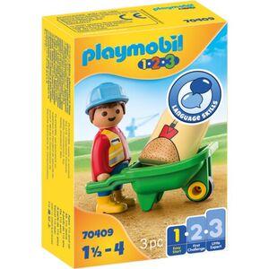 Playmobil® 70409 - Bauarbeiter mit Schubkarre - Playmobil® 1-2-3