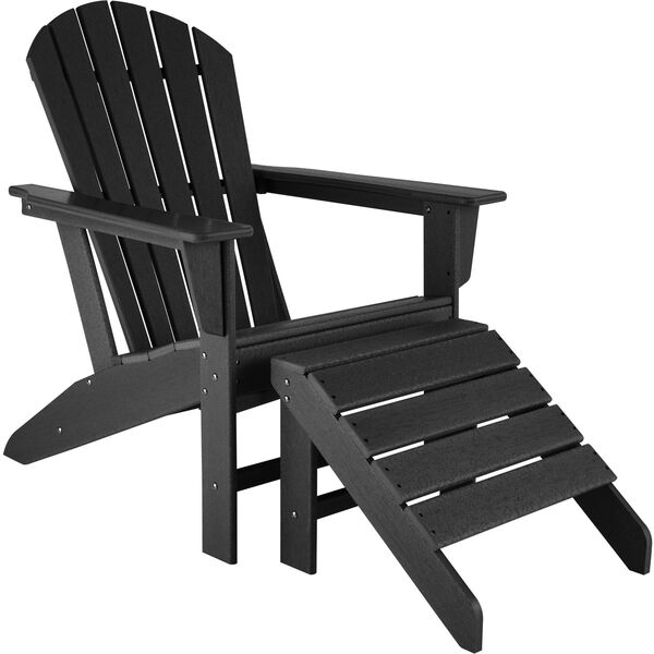 Gartenstuhl Janis mit Fußablage Joplin schwarz