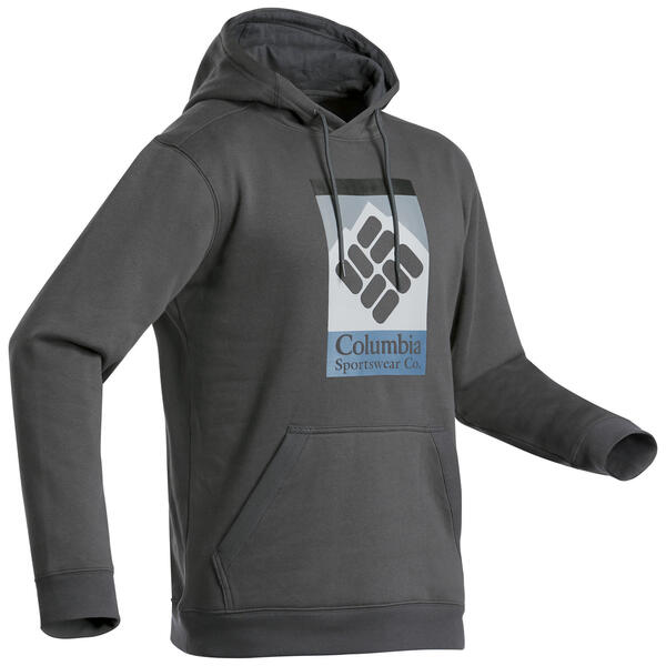 Sweatshirt Naturwandern Wells Way Columbia mit Kapuze Herren grau