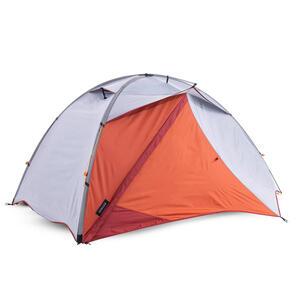 Trekkingzelt Trek 500 2 Personen Kuppelzelt grau/orange