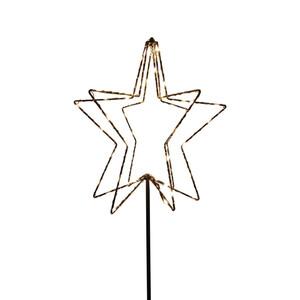 3D-Stern mit LED's und Erdspieß