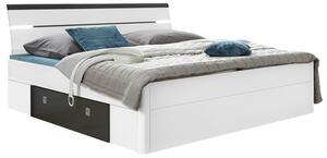 Bett in Weiß/Anthrazit 'Mars 140x200'