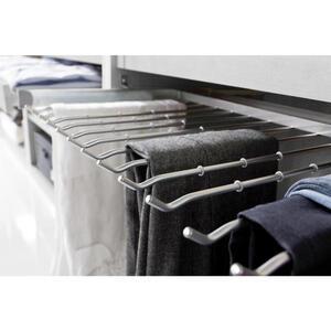 Hom`in Hosenhalter ausziehbar, montage an innenseite alufarben , Matrix -Hom IN- /budget 2 , Metall , 100 cm , matt , 001172000543