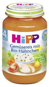 Hipp Bio Gemüsereis mit Bio-Hühnchen nach dem 4. Monat 190 g