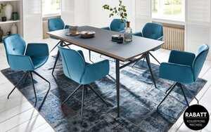 Mobitec - Stuhlgruppe Mood in stahlblau/schwarz