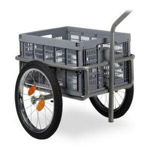 Lastenanhänger Fahrrad grau