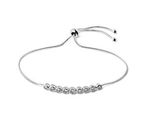 Tennisarmband, 925 Silber mit Zirkonia