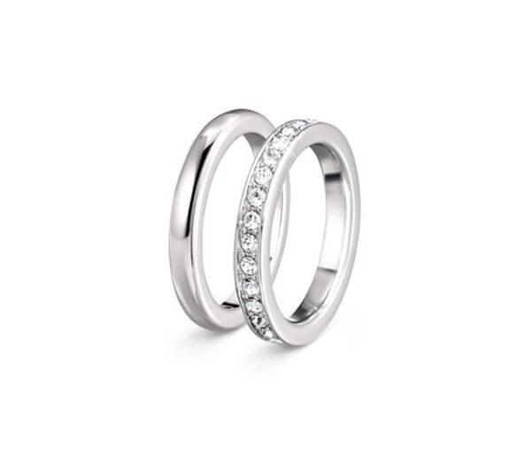 Memoire-Ring veredelt mit Kristallen von Swarovski®