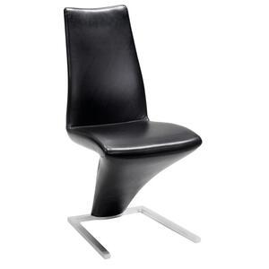 Rolf Benz Stuhl echtleder schwarz , 7800 , Metall, Leder , pigmentiert , Lederauswahl, Stoffauswahl , 000166022060