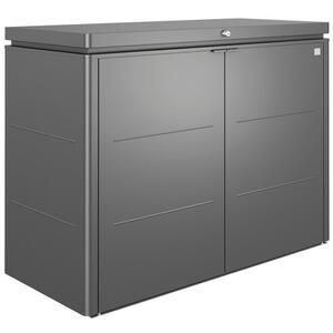 Biohort Kissenbox , Highboard 160 , Dunkelgrau , Metall , 160x118x70 cm , pulverbeschichtet, verzinkt , Deckel aufklappbar, regenabweisend, wetterbeständig , 001284001209