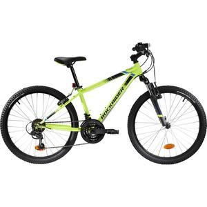 Mountainbike Kinderfahrrad 24 Zoll Rockrider ST 500 neongelb